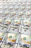 Строки новых долларовых банкнот дизайна Стоковое Изображение RF