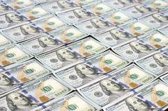 Строки новых долларовых банкнот дизайна Стоковая Фотография RF