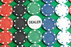 Строки обломоков покера Стоковая Фотография RF