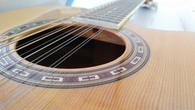 Строки отверстия гитары Стоковые Изображения