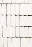 Строки пустых белых коробок Стоковые Изображения