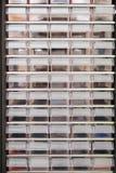 Строки пластичных коробок Стоковые Изображения