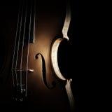 Строки силуэта скрипки закрывают вверх Стоковая Фотография