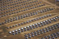 Строки F-4 военного самолета, авиационная база ВВС Davis Montham, Tucson, Аризона Стоковая Фотография