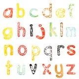Строчный алфавит иллюстрация вектора