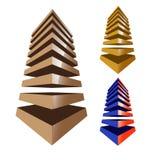Строя абстрактный логотип Стоковые Изображения RF