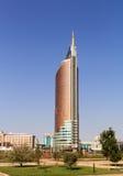 Строя БАШНЯ ПЕРЕХОДА небоскреб astana kazakhstan Стоковое Изображение