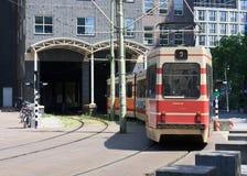 строя вводя внутренний трам Стоковые Фото