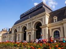 Строя железнодорожный вокзал Paveletsky Стоковые Изображения