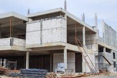 строя конкретная конструкция справляется стены места Стоковое Фото