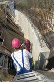 Строя конкретная терпя стена Стоковое Фото
