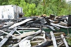 строя, котор сгорели бедствие Стоковое Изображение