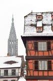 строя красная зима страсбурга Стоковое фото RF