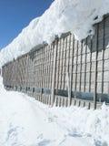 строя покрытый снежок деревянный Стоковое Изображение