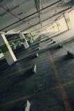 строя пустая стоянка автомобилей Стоковое Изображение RF