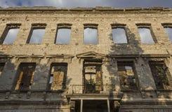 Строя руины в Мостаре, после взрыва города Стоковые Фото