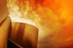 строя самомоднейшее красное небо Стоковая Фотография