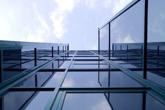 строя самомоднейшие окна Стоковое Фото