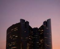 строя самомоднейший заход солнца офиса Стоковая Фотография RF
