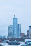 строя самомоднейшее урбанское современный жилой квартал города Стоковая Фотография