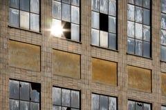 строя старое окно отражения Стоковое Изображение RF