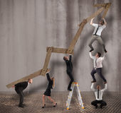 строя трап подъема преуспевает успех успешный Стоковое Изображение