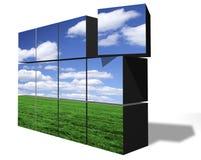 строя чистая окружающая среда Стоковое фото RF