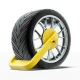 Струбцина колеса автомобиля Стоковое фото RF
