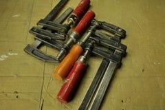 Струбцины используемые близко к Стоковое Изображение RF