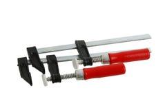 струбцины регулируют металлический красный цвет пар Стоковое Изображение RF