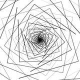 Струитесь картина с концентрическими квадратами - круговая геометрическая задняя часть бесплатная иллюстрация