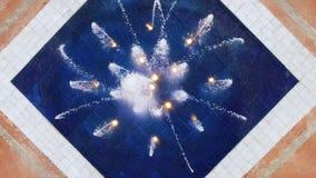 Струи воды стрельбы фонтана квадрата Батуми Европы, взгляд сверху, освежение лета стоковое изображение rf