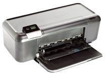 Струйный принтер на белой предпосылке Стоковое фото RF