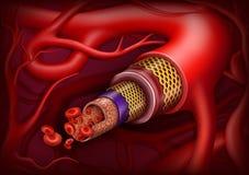 Структура артерии флористическое ilustration градиентов рамок отсутствие вектора иллюстрация вектора