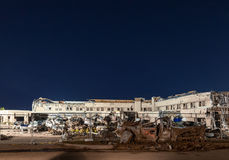 Структура больницы остается после торнадо Стоковая Фотография
