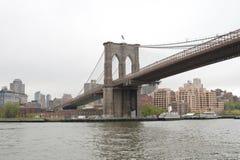 Структура Бруклинского моста главным образом, Нью-Йорк Стоковая Фотография