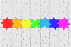 структура головоломки Стоковое Изображение