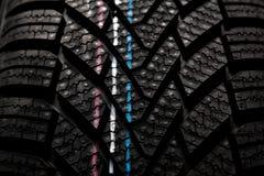 Структура детали новой автошины зимы Стоковое Фото