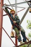 Структура китайского работника крася стальная Стоковая Фотография RF