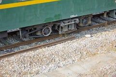 Структура колеса экипажа поезда Стоковое фото RF