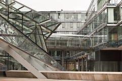 структура металла дела здания стеклянная Стоковые Фотографии RF