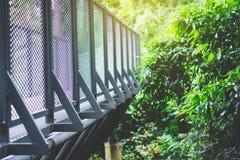 Структура металла моста прогулки неба Стоковая Фотография RF