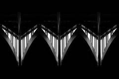 Структура металла здания окна подобная к космическому кораблю Стоковая Фотография