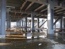 Структура металла здания под конструкцией Стоковая Фотография RF