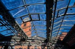 Структура металла стеклянной крыши Стоковое Изображение
