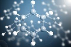 Структура модели коксобензола молекулы науки, концепция дела Стоковые Фотографии RF