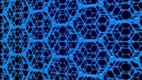 Структура молекулы на голубой предпосылке 3d представляют бесплатная иллюстрация