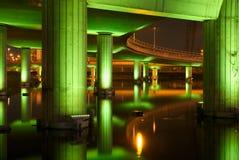 структура ночи шоссе вниз Стоковые Фотографии RF