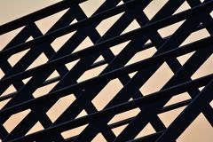 Структура домашней крыши силуэта стальная Стоковое Фото