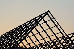 Структура домашней крыши силуэта стальная Стоковые Изображения